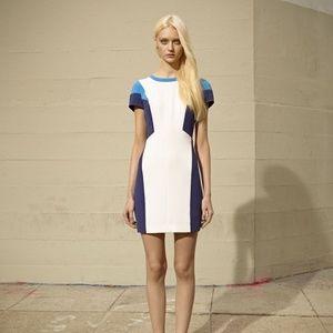Club Monaco color block dress with long zipper